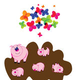 Cute piggy Royalty Free Stock Image