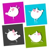Cute piggy for your design Stock Images