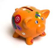 Cute piggybank. Little toy piggybank Stock Photos