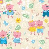 Cute pigs pattern Royalty Free Stock Images