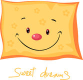 Cute pillow sweet dreams - vector illustration Stock Image