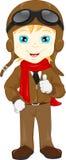 Cute Pilot Cartoon Royalty Free Stock Images