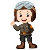Cute Pilot Cartoon Royalty Free Stock Photography