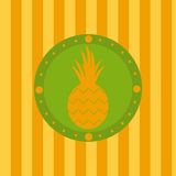 Cute pineapple background Royalty Free Stock Images
