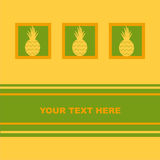 Cute pineapple card Royalty Free Stock Image