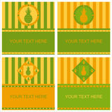 Cute pineapple frames Royalty Free Stock Images