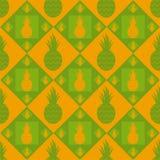 Cute pineapple pattern Stock Photos