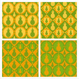 cute pineapple patterns Stock Image