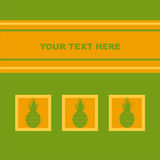 Cute pineapples card Royalty Free Stock Image