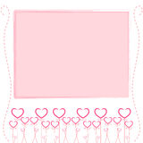 Cute pink background,cute card of love Royalty Free Stock Photography