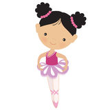 Cute pink ballerina vector illustration Stock Photos