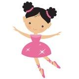 Cute pink ballerina vector illustration Royalty Free Stock Photography