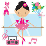 Cute pink ballerina vector illustration Royalty Free Stock Images
