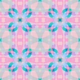 Cute pink blue fractal based abstract texture. Square seamless tile. Detailed background illustration. Home decor fabric design sa royalty free illustration