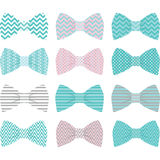 Cute Pink Bow Tie Collection. The vector for Royalty Free Stock Photos