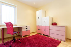 Cute pink children room Royalty Free Stock Image