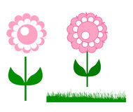 cute pink circle flower Stock Images