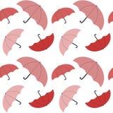 Cute pink colorful umbrella seamless pattern background illustration Stock Photo