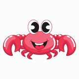 Cute Pink Crab Stock Image