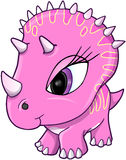 Cute Pink Dinosaur Vector Illustration Royalty Free Stock Photos