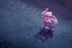 Cute Pink Elephant Royalty Free Stock Images