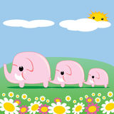 Cute Pink Elephants Royalty Free Stock Photography