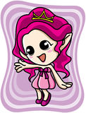 Cute pink elf girl Stock Photo