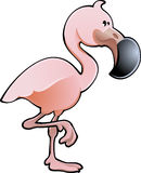 Cute Pink Flamingo Vector Illustration Royalty Free Stock Photography