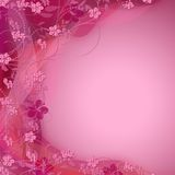 Cute pink floral color shaded background. Cute pink swirly floral color shaded background , perfect for Romantic and girlish designs Stock Photography