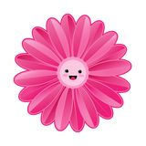 Cute pink flower on white background. Pink flower on white background,cute,eps10 Vector Illustration