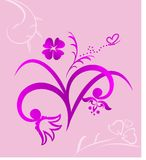 Cute pink flowers background Stock Photo
