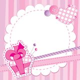 Cute pink frame Stock Photo