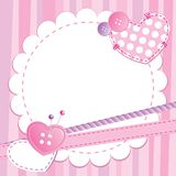 Cute pink frame Royalty Free Stock Images