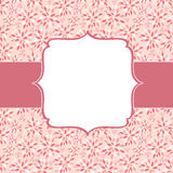Cute Pink Frame Vector Illustration Stock Image