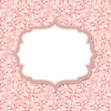 Cute Pink Frame Vector Illustration Royalty Free Stock Photo