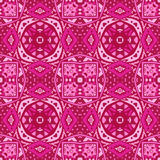Cute pink geometry ornament background Stock Photo