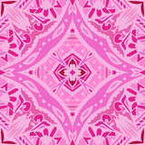 Cute pink geometry ornament background Stock Images