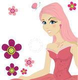 Cute pink girl Royalty Free Stock Photos