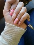 Cute pink nails Stock Photography