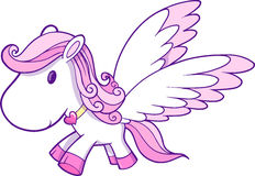 Cute Pink Pegasus Vector Stock Image