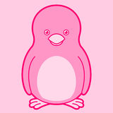 Cute pink penguin Stock Image