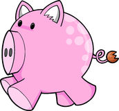 Cute Pink Pig Vector stock photos