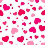 Cute pink and red hearts. Stock Photos