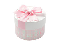 Cute pink Round Gift box Stock Photography