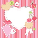 Cute pink scrap set Royalty Free Stock Photos