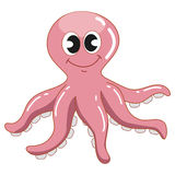Cute Pink Squid Stock Photography