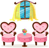 Cute pink table and chairs Stock Image