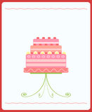Cute pink wedding cake Stock Photos