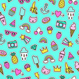 Cute pins seamless pattern. Stock Image