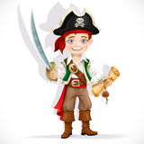 Cute pirate boy with cutlass Royalty Free Stock Images
